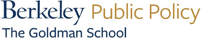 Berkeler Goldman School of Public Policy